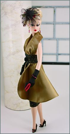 """Silkstone Barbie wearing """"Royal Connection"""" by Great North Woods Design"""