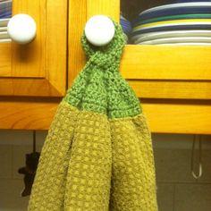 Crochet dishtowel top!