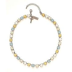 """Rhinestone Choker-You're Loved-17"""" w/2"""" Extender (Daisy Collection)"""