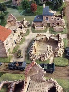 Bolt Action Game, Bolt Action Miniatures, Train Info, D Day Normandy, Chain Of Command, Game Terrain, Wargaming Terrain, Military Diorama, Model Train Layouts