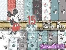 Mickey Mouse suave papel digital Instant Descargar | Etsy Printable Crafts, Printable Paper, Mickey Mouse, Disney Mickey, Bookbinding Materials, Mickey Craft, Clue Party, Digital Scrapbook Paper, Digital Papers