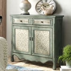 Special collection Palos Antique 2 Door Accent Cabinet By Lark Manor Accent Furniture, Painted Furniture, Refinished Furniture, Colorful Furniture, Upcycled Furniture, Vintage Furniture, Cabinets For Sale, Cabinet Makeover, Furniture Makeover