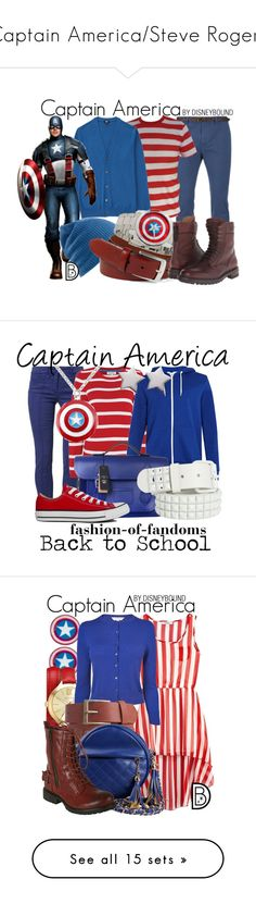 """{Captain America/Steve Rogers}"" by hannahluladybuggirl ❤ liked on Polyvore featuring Scotch & Soda, Uniqlo, Burton, Bosca, Disney, rag & bone, men's fashion, menswear, disney and marvel"
