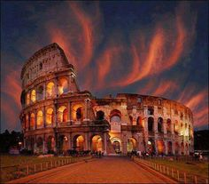 Roman Colosseum in Rome, Italy. I can't wait to see this on my first day in Europe with  People to People!!