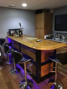 Todayu0027s Pick: A Theater Room Home Bar Top Featuring Our Bar Top Kits,