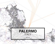 Palermo - Italy. Download CAD Map city in dwg ready to use in Autocad. www.mapacad.com