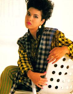 Annabella Lwin of Bow Wow Wow featured in Look Now magazine, February 1986.