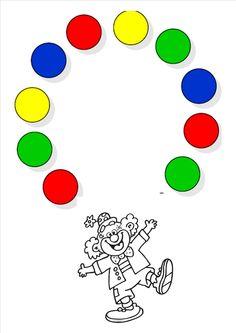 Klei-act. De clown jongleert!