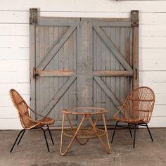 vintage rattan set