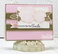 Blooming Roses; Rose Bouquet Die-namics; Blueprints 6 Die-namics; Blueprints 1 Die-namics; First Place Award Ribbon Die-namics - Mona Pendleton