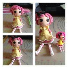 Lalaloopsy cake toppers #1: Crumbs Sugar Cookie tutorial - by Laylah22 @ CakesDecor.com - cake decorating website