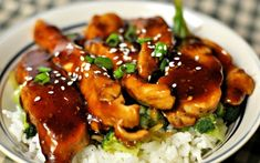 Tried and True Top 5 EASY crockpot recipes! Fiesta chicken, autumn rice and sausage, bean and cheese, pulled pork - Check out the post. Teriyaki Chicken Rice Bowl, Chicken Over Rice, Rice Recipes, Crockpot Recipes, Chicken Recipes, Teriyaki Glaze, Fiesta Chicken, Girl Cooking, Always Hungry