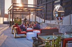 The dec Rooftop Bar +Lounge at The Ritz-Carlton, Chicago seats up to 57 guests in hip and cozy furnishings. Come for a light lunch or to relax in the evening over shared plates, hand-crafted classic or kegged cocktails and a rotating menu of craft beers. They even have an old-fashioned ice cream cart with homemade treats. #FSTaste