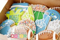Super Bowl Cookies | Cookies In Color | Shannon Tidwell