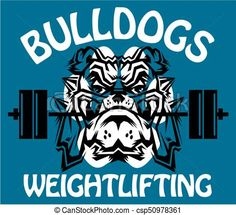 Vector - bulldogs weightlifting - stock illustration, royalty free illustrations, stock clip art icon, stock clipart icons, logo, line art, EPS picture, pictures, graphic, graphics, drawing, drawings, vector image, artwork, EPS vector art