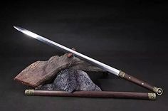 """Chinese sword/Han jian/Carbon steel material/Rosewoodscabbard/Full tang/Alloy fitted/Length 39"""""""