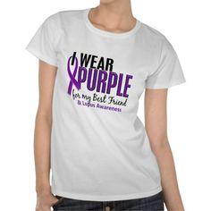 I Wear Purple For My Best Friend 10 Lupus Tshirts