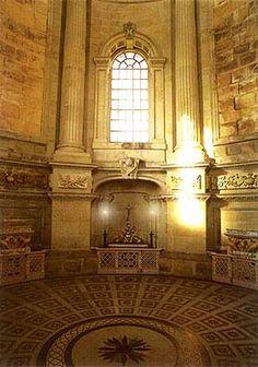 Interior of the Mausoleum at Castle Howard, Nicholas Hawksmoor, architect, built 1729-42 for Charles Howard, 3rd Earl of Carlisle at Henderskelfe, Ryedale, North Yorkshire, England.