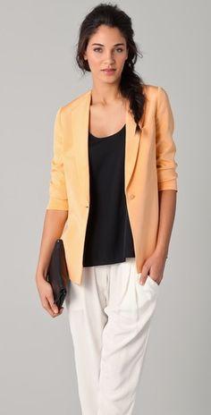 peachy blazer