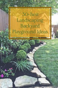 30+Best Landscaping Backyard Playground Ideas #landscaping #landscapingbackyard #backyardplayground Playground Ideas, Backyard Playground, Play Yard, Backyard Landscaping, Landscape, Garden, Plants, Backyard Landscape Design, Garten
