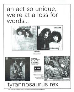 A Marc In Time...November 29th 1969 Tyrannosaurs Rex play Newcastle City Hall Photo page from the tour programme