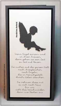 ... Trauerkarte ...           Und wieder einer von meinen Lieblingsengeln.   Selbst für eine Trauerkarte ist er bestens geeignet.   Den Tex...