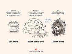 Dog House, Polar Bear House, Panda House