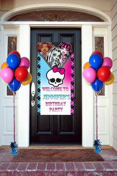 Monster High Door Banner Personalized 2 feet by 4Feet, Welcome Banner for Party Customizable on Etsy, $25.81 AUD
