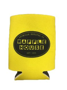 Avondale Estates, GA Est 1955 Waffle House Koozie · Made Of Laminated Open Cell Foam · Folds Flat For Pocket Or Purse Storage Avondale Estates, Purse Storage, Home Catalogue, Waffle House, Drink Sleeves, Waffles, Party, Gifts, Accessories