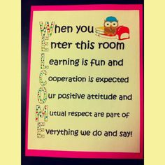 Welcome sign for classroom:  Use individual letters to going down the wall in the hall beside my door.
