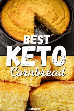 Healthy Low Carb Recipes, High Protein Recipes, Low Carb Keto, Low Carb Bread, Keto Recipes, Low Carb Cakes, Bread Recipes, Keto Corn Bread, Best Keto Bread