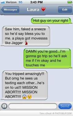 Oh my gosh. So funny. Something me and my friends would do.