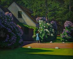 This is rich. I can almost smell the lilacs. Note by Roger Carrier Chrysler Museum, Rockwell Kent, Unique Buildings, Painting Collage, Paris Art, Paint By Number, Landscape Art, American Art, Art Decor