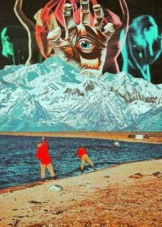 The Fake Promise. Surreal Mixed Media Collage Art By Ayham Jabr.