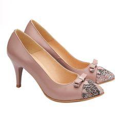 Pantofi dama eleganti din piele naturala roz pudra 4090 Kitten Heels, Shoes, Fashion, Moda, Zapatos, Shoes Outlet, Fashion Styles, Fasion, Footwear
