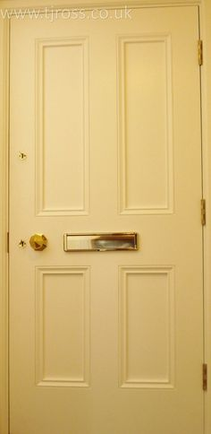 External Door yellow door Bespoke Door TJ Ross & Cool Blue. External door painted door Farrow u0026 Ball paint RAL ...