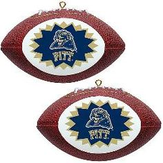 Topperscot Pittsburgh Panthers Two Mini Replica Football Ornaments