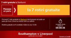 Pariaza pe Southampton - Liverpool si ia 7 rotiri gratuite la Sportingbet - Ponturi Bune