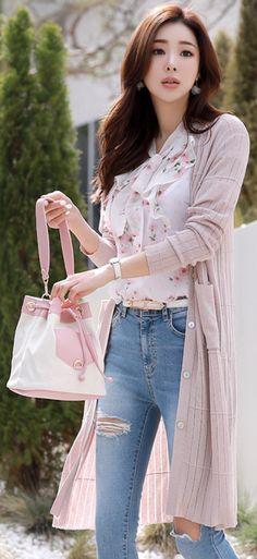 d27a9dfdc7a85e Silver Shimmer V-Neck Long Cardigan. I Love FashionPink FashionWestern  OutfitsVietnamese DressKorean Fashion OnlineWomens ...