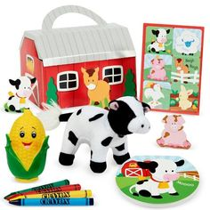 Barnyard 2nd Birthday Party Favor Box