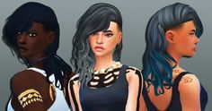 Weepingsimmer: Anto`s Roulette Hair Clayified  - Sims 4 Hairs - http://sims4hairs.com/weepingsimmer-antos-roulette-hair-clayified/