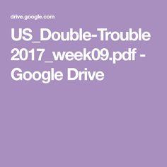 US_Double-Trouble2017_week09.pdf - Google Drive Crochet Blanket Patterns, Baby Blanket Crochet, Crochet Baby, Double Trouble, Google Drive, Pdf, Afghans, Crocheting, Blankets