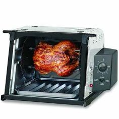 #ronco #roncoshowtime #rotisserieoven This compact rotisserie barbeque oven is easy to use and comes with a grate cover, drip tray, nonstick rotisserie basket, spit loading base ...