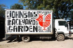 Love this truck designed and hand-painted by Ryan Rhodes for Johnson's Backyard Garden