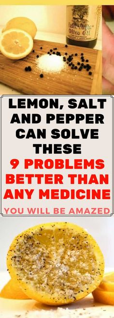 Salt, pepper and lemon are not just great in salad – they can treat a wide range of diseases and conditions naturally and without side-effects. Here's what they can help you with: SORE THROAT Mix a tablespoon of lemon juice, half a teaspoon of black pepper and a teaspoon of salt in a glass of […]
