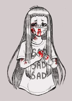 [Day 21] Bloody and Beaten by DrawKill on DeviantArt