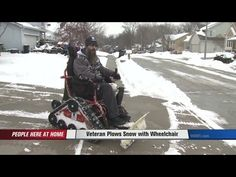 Wounded Veteran Transforms Wheelchair Into Ultimate Snow Plow — Firehouse Subs: #HeroFuel