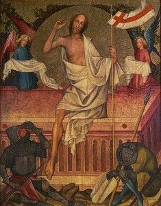 Resurrection, from the Calvary Altarpiece from Garamszentbenedek. Christian Museum, Esztergom