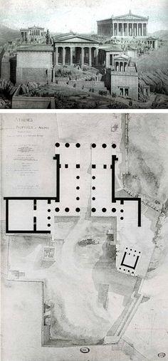 Los Propileos. Puertas de acceso a la acropolis