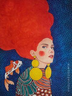 Tromso, Klimt, Powerful Women, Original Artwork, Disney Characters, Fictional Characters, Vibrant, Watercolor, Sculpture